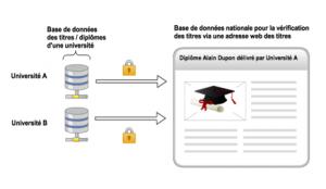 Figure 1 : Fonctionnalité de base du processus de consultation d'une base de données nationale des titres